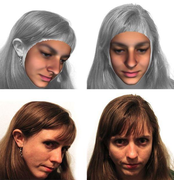 Reproduction visage 3D à partir de l'ADN